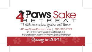 4 Paws Sake