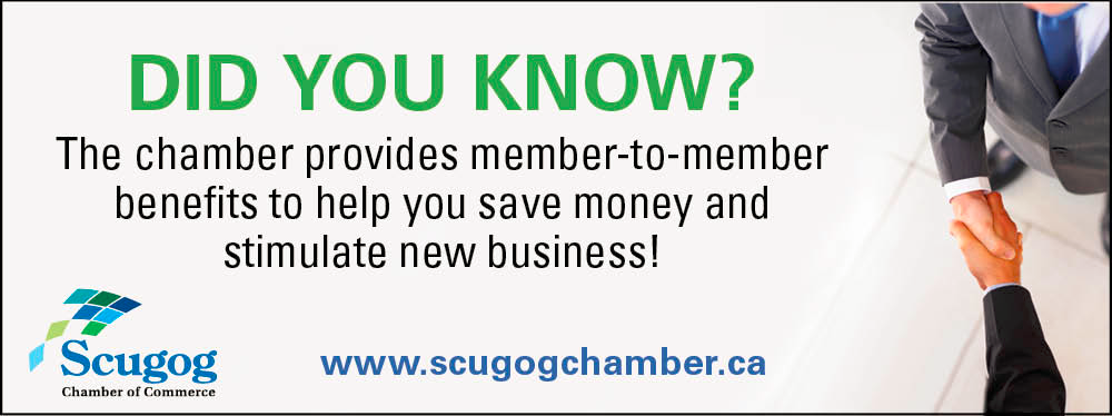 Scugog Chamber of Commerce provides member-to-member benefits to help you save money and stimulate new business!