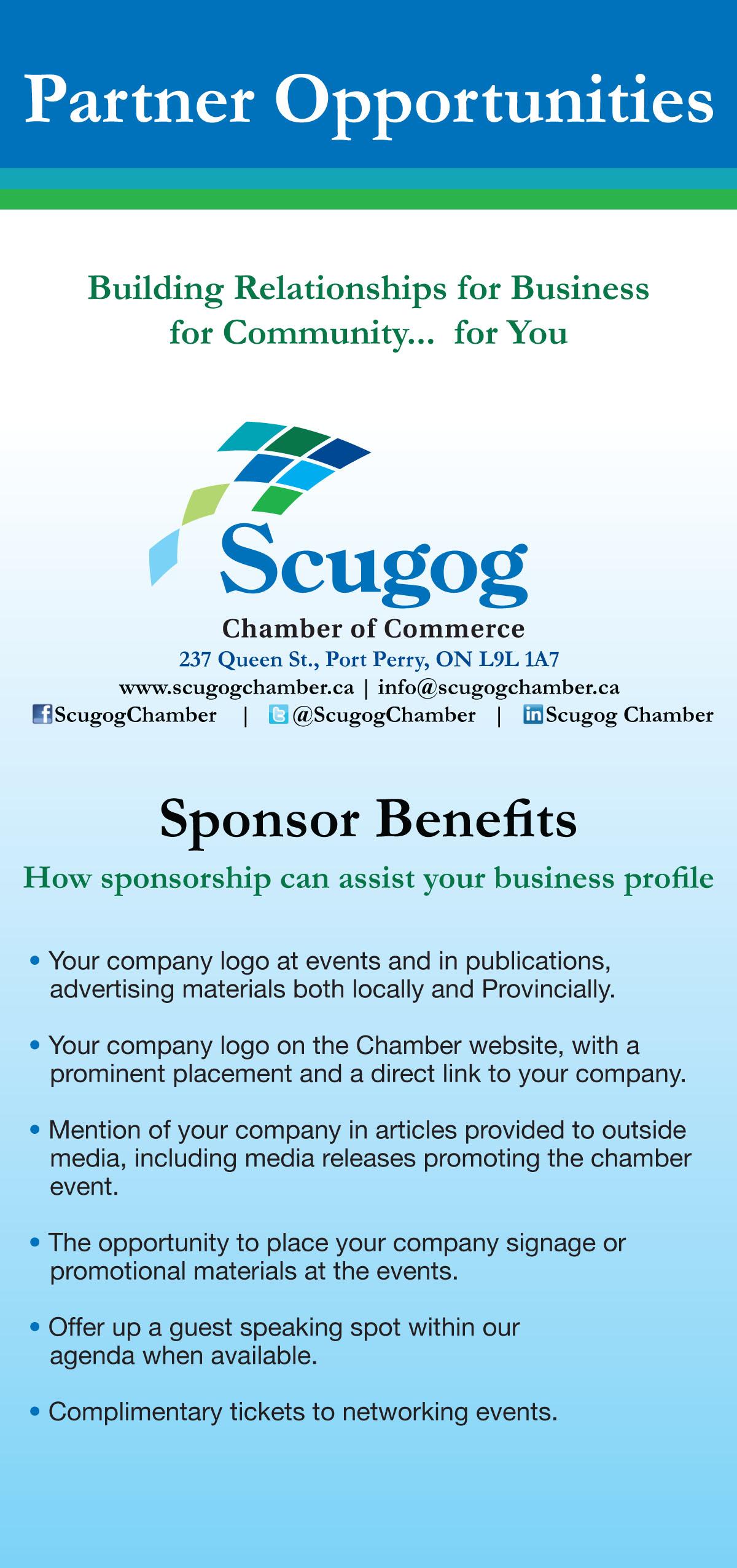 Scugog Chamber Sponsor.indd